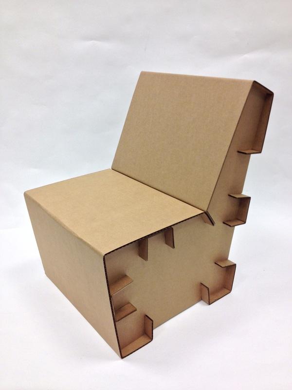 Lasercut cardboard chair joe kochevar